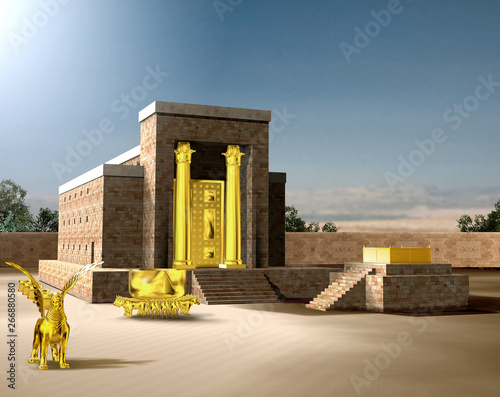 Jewish First Temple of Solomon Fototapeta