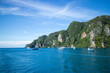 Phi Phi Islands is a famous a vacation spot in Thailand.