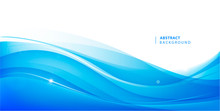 Abstract Vector Blue Wavy Back...