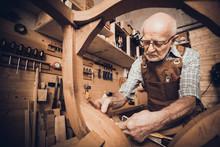 Old Carpenter At Work