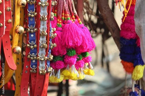 Spoed Fotobehang Carnaval Handicraft market decoration