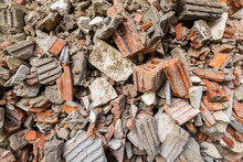 Pile Of Red Brick And Cement A...