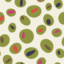 Colorful Cartoon Green Olives ...