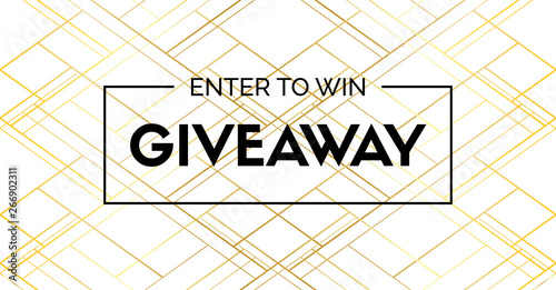 Giveaway luxury vector banner Canvas-taulu