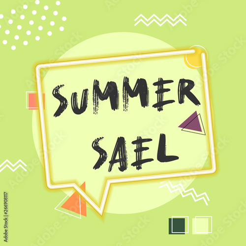 Foto op Canvas Retro sign memphis summer sale poster