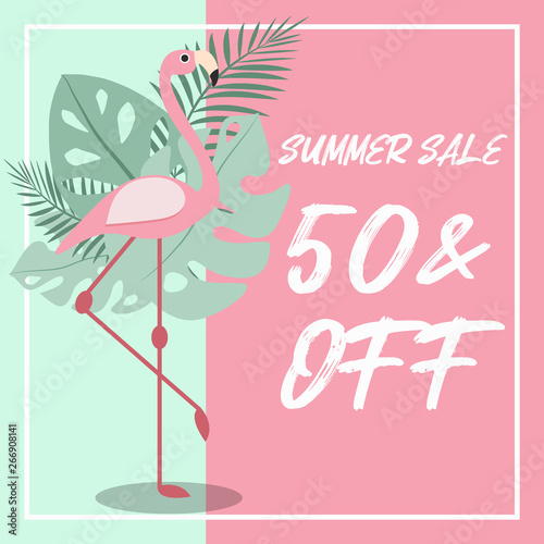 Foto op Canvas Retro sign summer memphis sale poster