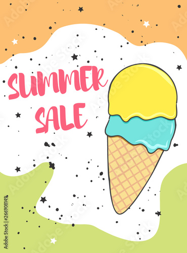 Fotobehang Retro sign summer sale poster