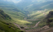 The Sani Pass, Winding Dirt Ro...