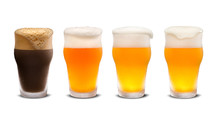 Set Of Many Beer Glasses With ...