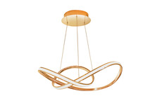 Modern Design Gold Ceiling Lamp For Interior Decoration On White Background