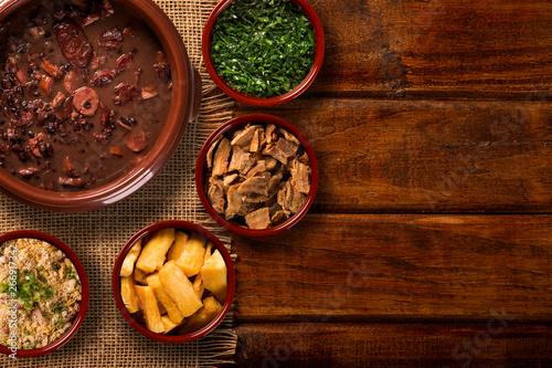 Photo  Brazilian Feijoada Food. Top view