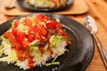 """Taco Rice"", Local Specialty Of Okinawa, Japan"
