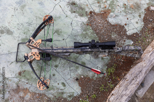 Photo hunting crossbow with an arrow