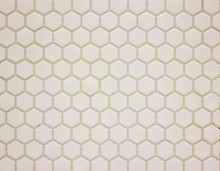 Background Wall Mosaic In The Form Of Honeycombs White Ceramic