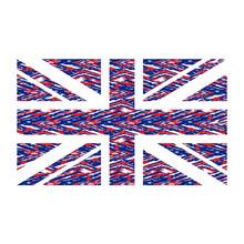 Red And Blue United Kingdom Fl...