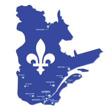 Quebec Map Province With Cities