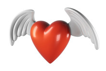 3D Render Of Heart Shape With ...