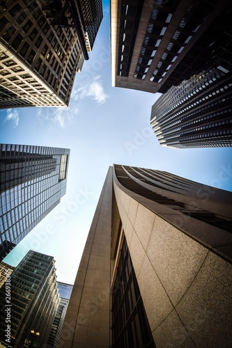 Poster Lieux connus d Amérique skyscrapers in new york