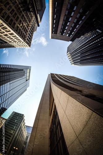 Keuken foto achterwand Amerikaanse Plekken skyscrapers in new york
