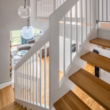 Home Interior With Wooden Stairs