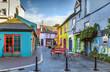 canvas print picture - Street in Kinsale, Ireland