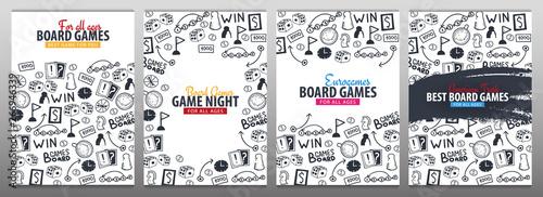 Fotografia, Obraz Set of Board Games banners