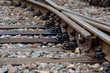 Multiple railway track switches , symbolic photo for decision, separation and leadership qualities. - Image