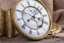 Repair Of Vintage Wall Clock, Concept Of Memory And Past Time