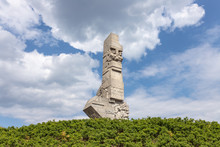 """Monument For The Memory Of Westerplatte (District In Gdansk -Poland), Where """"World War II"""" Had Started."""