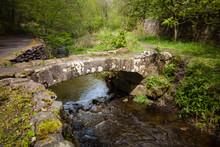 Small Ancient Bridge In A Scot...