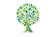 Logo tree people ecology symbol