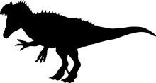 Allosaurus 2 Isolated Vector Silhouette