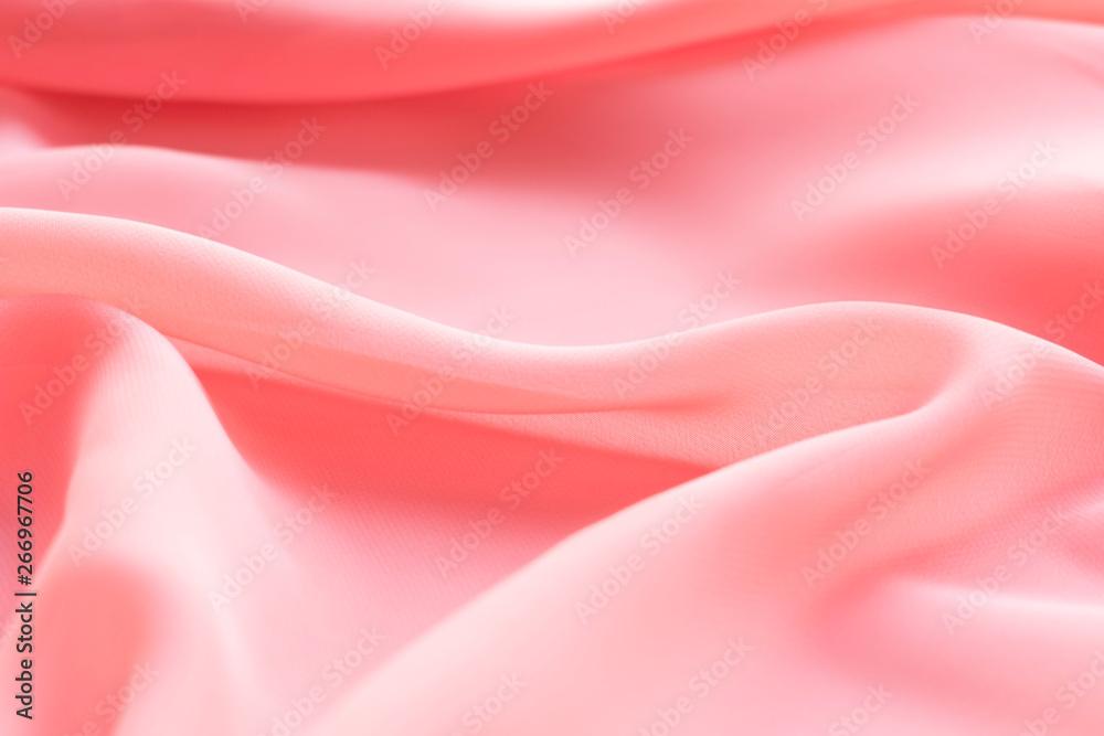 Fotografie, Obraz  pink silk texture