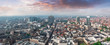 canvas print picture - Aerial view of central Brussels, Belgium