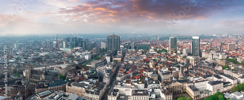Foto auf Gartenposter Brussel Aerial view of central Brussels, Belgium