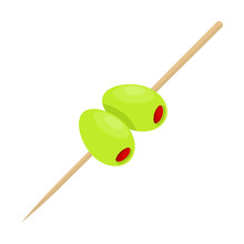 Two Olive With Stick Vector De...