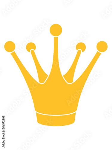 goldene märchen krone froschkönig könig prinz anführer zacken clipart logo desig Canvas-taulu