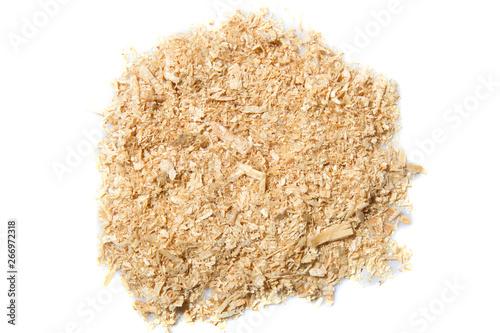 Fototapeta pile of sawdust on a white background