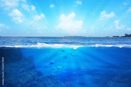 Obraz BLUE UNDER WATER - fototapety do salonu