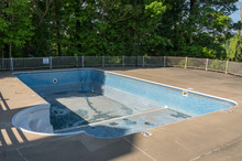 Empty In Ground Swimming Pool ...
