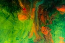Colors Dissolved In Liquid