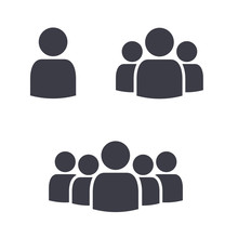 Team Leader Group Of People Crowd Symbol Icons