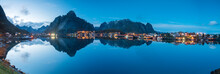 Panoramic Of Reine Bay And Mou...