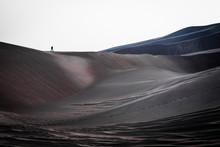 Hiker Crosses A Dune At Great ...