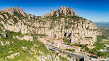 Montserrat Monastery Aerial View