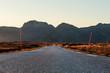 Norway, Lofoten Islands, empty country road