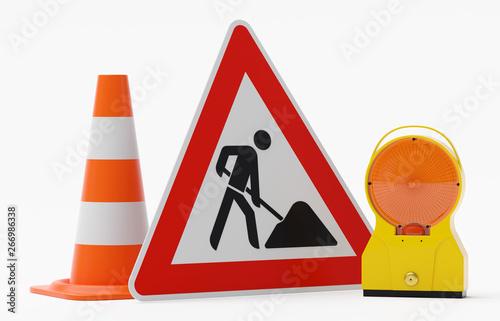 Fotografía Baustelle Warnung - Bakenleuchte Baustellenleuchte Gehäuse gelb - Glas orange mi