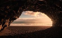 Landscape Of Sea Cave At Reynisfjara Beach, Iceland