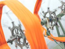 Machine Reeling Thread On Spool