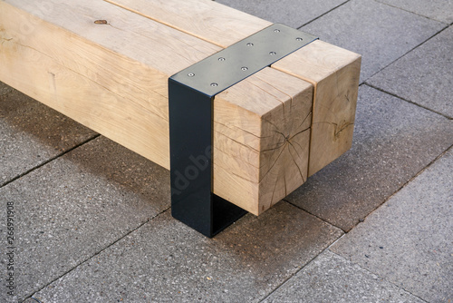 Remarkable Modern Bench Made Of Large Block Of Wood Buy This Stock Evergreenethics Interior Chair Design Evergreenethicsorg